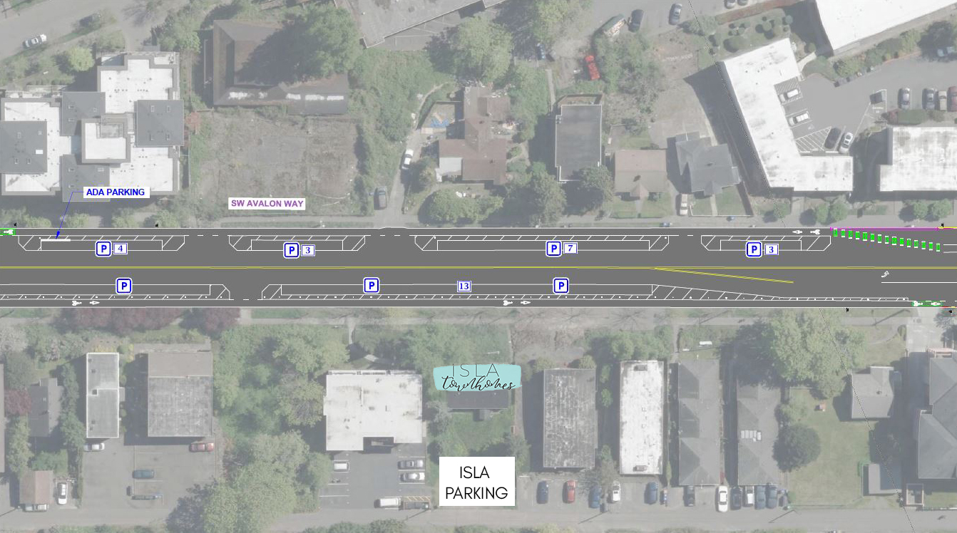 Image Showing Planned Improvements to SW Avalon Way