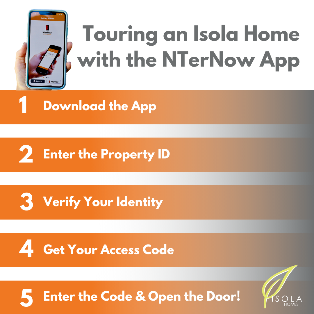 Directions for Using the NTerNow App for Isola Homes