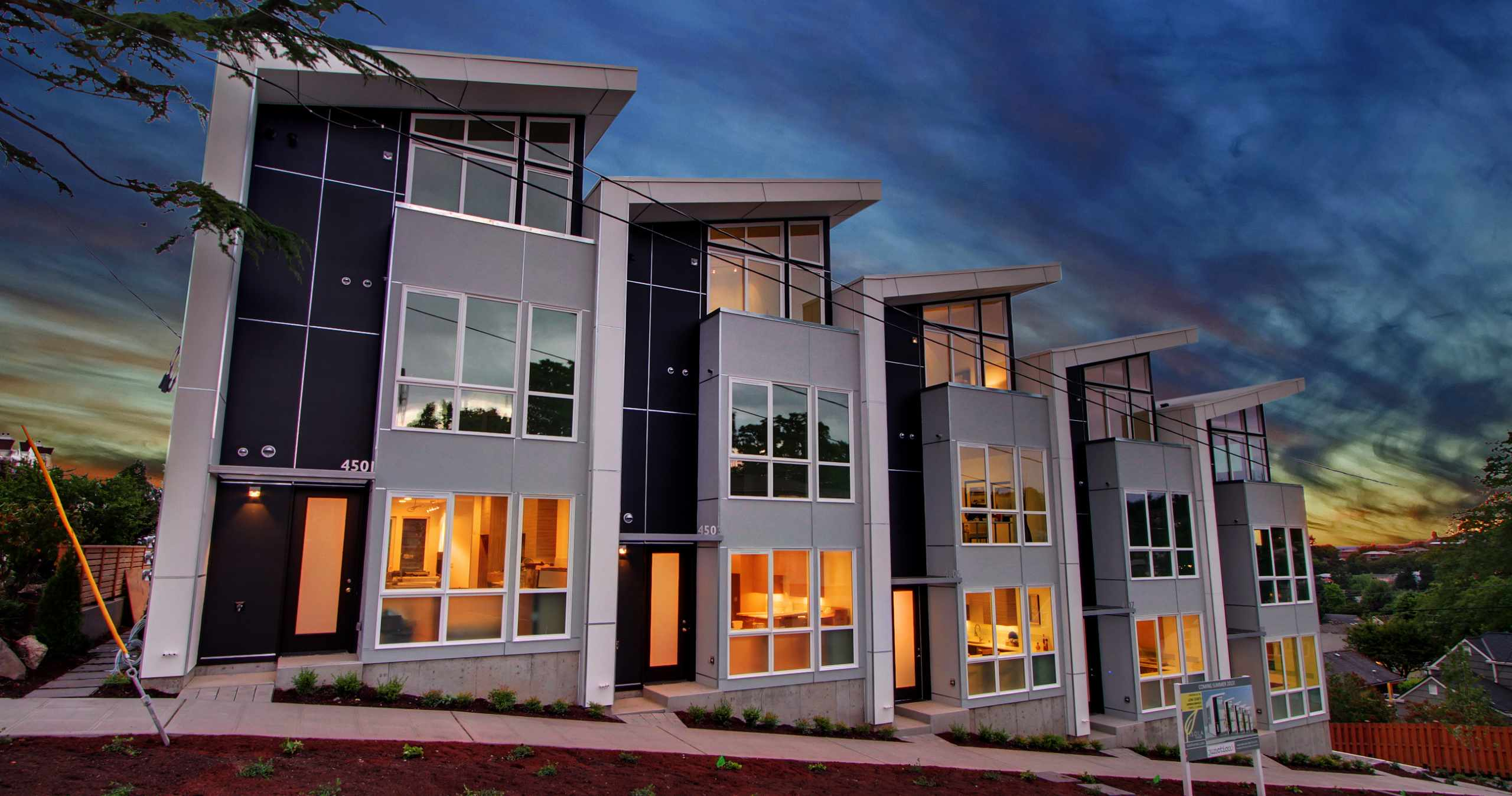 Junction 5 Townhomes in West Seattle Built by Isola Homes