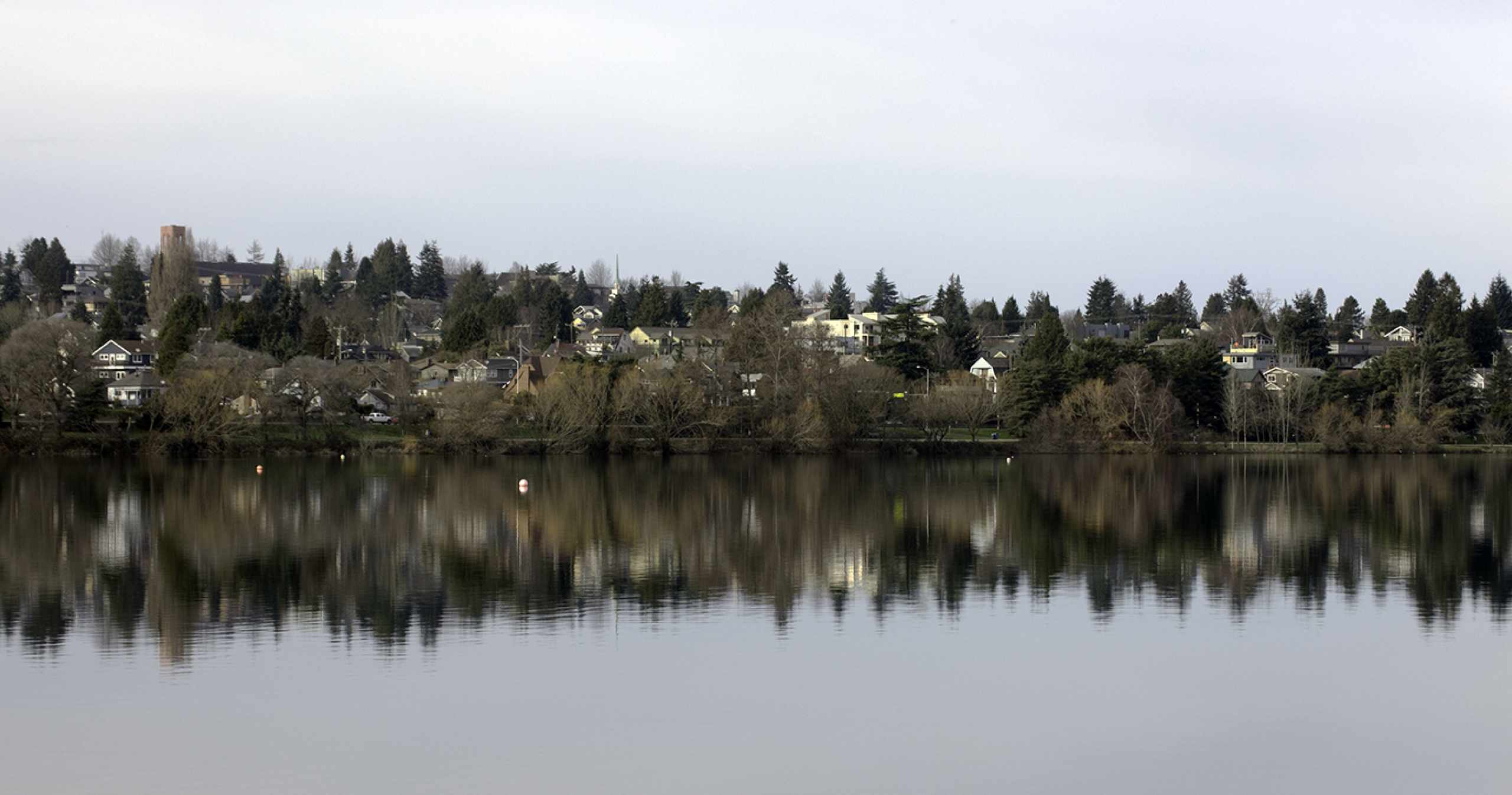 Green Lake in Seattle on a Cloudy Day
