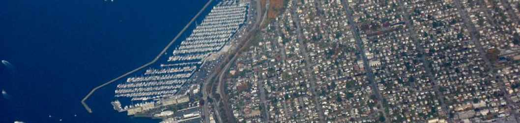 Aerial view of the Ballard area of Seattle