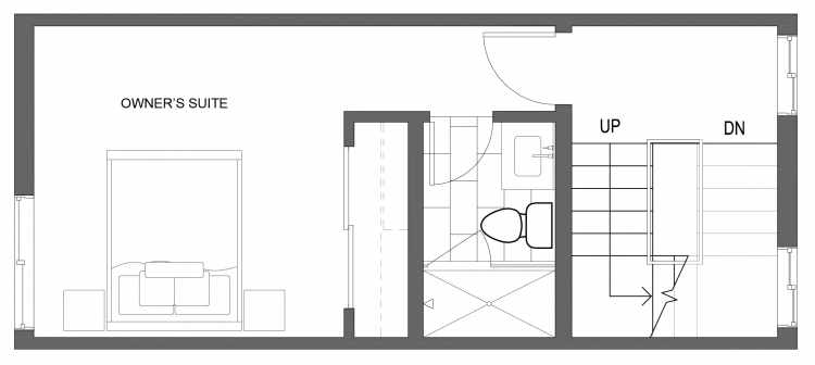 Third Floor Plan of 10417 Alderbrook Pl NW, One of the Zinnia Townhomes in the Greenwood Neighborhood of Seattle