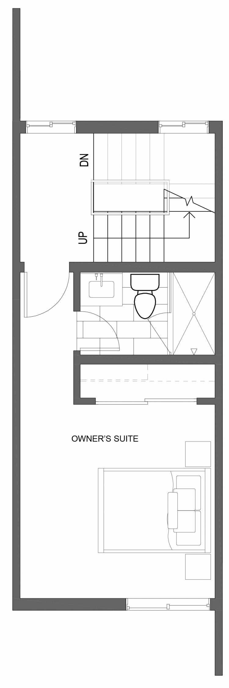 Third Floor Plan of 10423 Alderbrook Pl NW, One of the Zinnia Townhomes in the Greenwood Neighborhood of Seattle