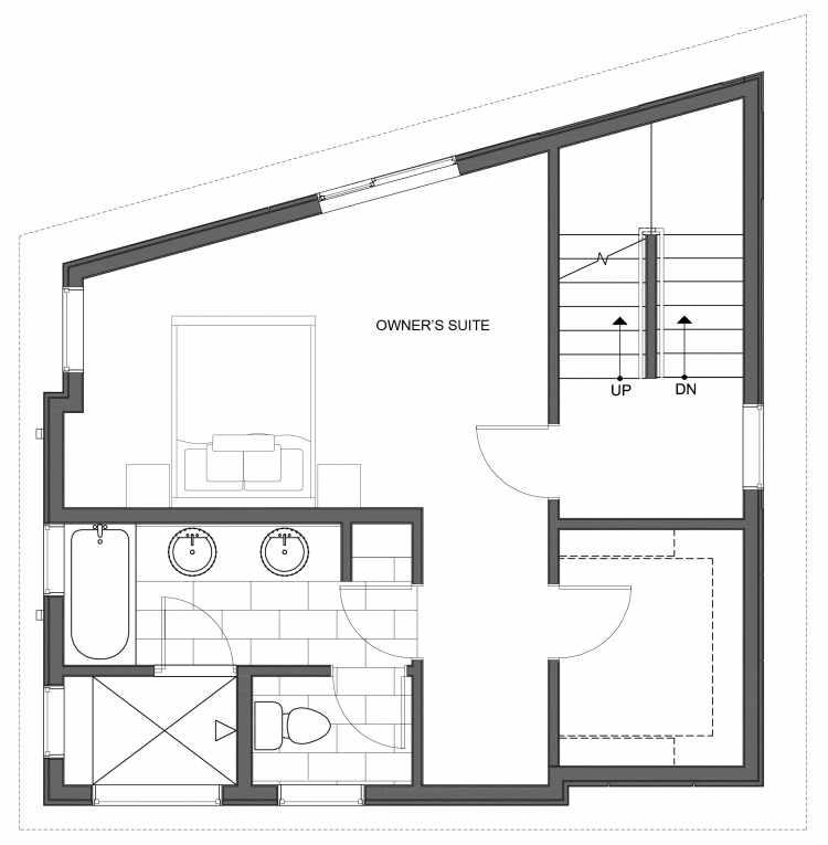 Third Floor Plan of 10441 Alderbrook Pl NW, One of the Hyacinth Homes in the Greenwood Neighborhood of Seattle