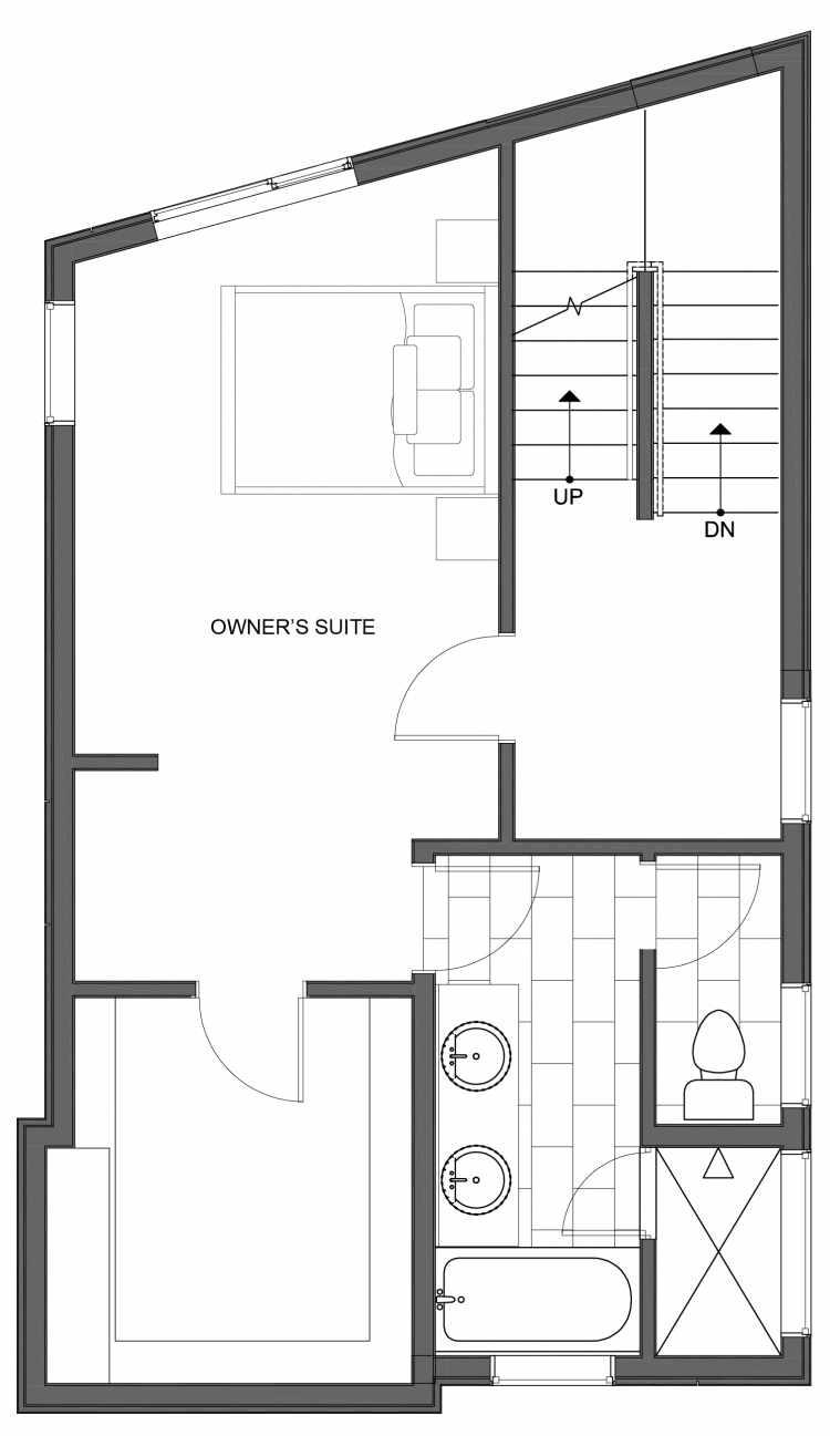 Third Floor Plan of 10443 Alderbrook Pl NW, One of the Hyacinth Homes in the Greenwood Neighborhood of Seattle