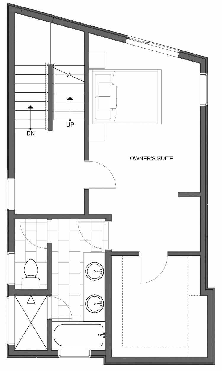 Third Floor Plan of 10445 Alderbrook Pl NW, One of the Hyacinth Homes in the Greenwood Neighborhood of Seattle