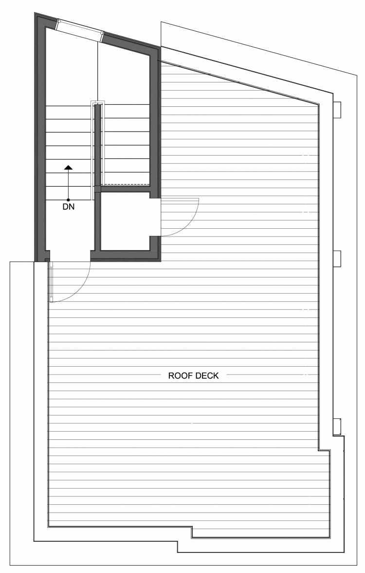 Roof Deck Floor Plan of 10445 Alderbrook Pl NW, One of the Hyacinth Homes in the Greenwood Neighborhood of Seattle