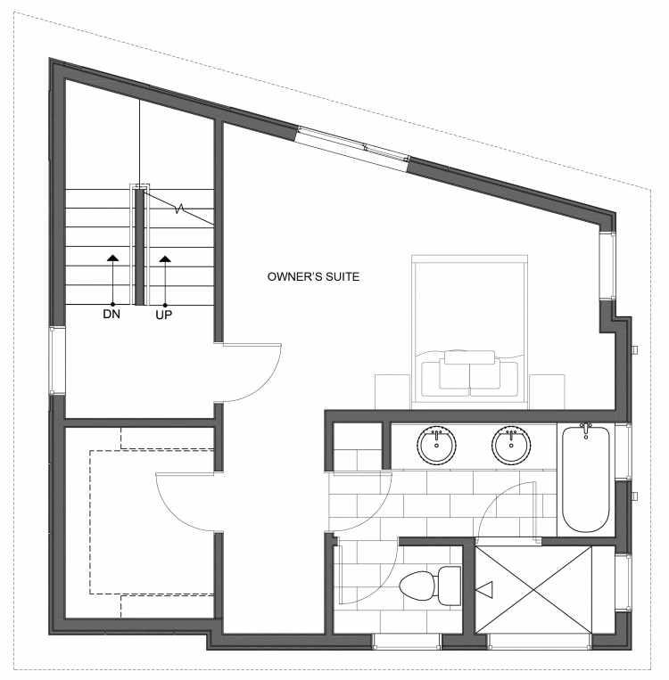 Third Floor Plan of 10447 Alderbrook Pl NW, One of the Hyacinth Homes in the Greenwood Neighborhood of Seattle
