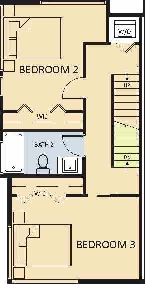 2 Bedrooms + 1 Bathroom