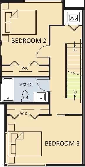 2 Bedrooms + 1 Bathroom