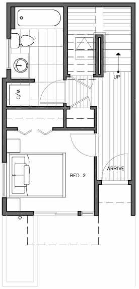 First Floor Plan of 109A 22nd Ave E at the Thalia Townhomes