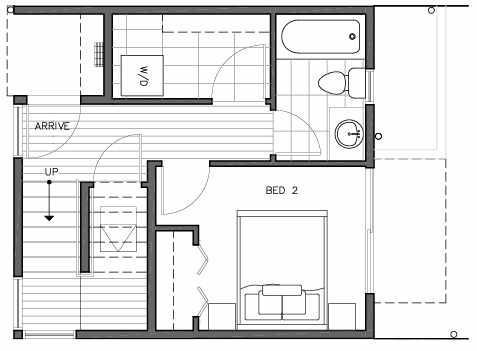 First Floor Plan of 109B 22nd Ave E at the Thalia Townhomes