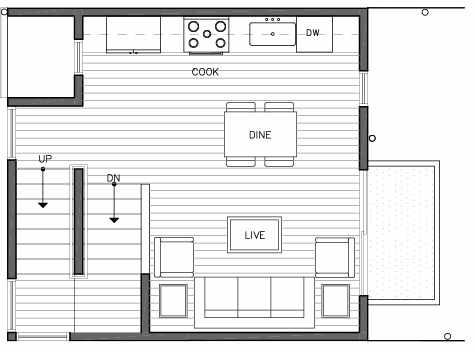 Second Floor Plan of 109B 22nd Ave E at the Thalia Townhomes
