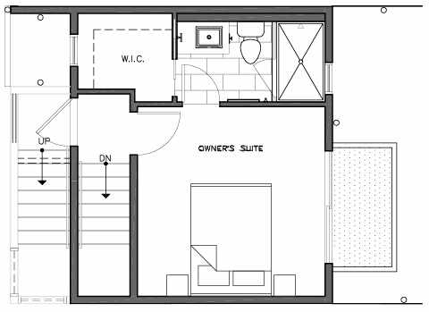 Third Floor Plan of 109B 22nd Ave E at the Thalia Townhomes