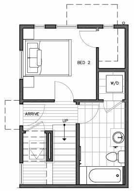 First Floor Plan of 109C 22nd Ave E at the Thalia Townhomes