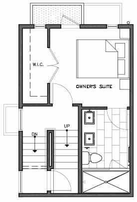 Third Floor Plan of 109C 22nd Ave E at the Thalia Townhomes