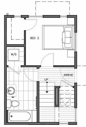 First Floor Plan of 109D 22nd Ave E at the Thalia Townhomes