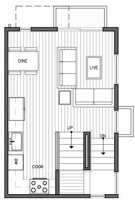 Second Floor Plan of 109D 22nd Ave E at the Thalia Townhomes