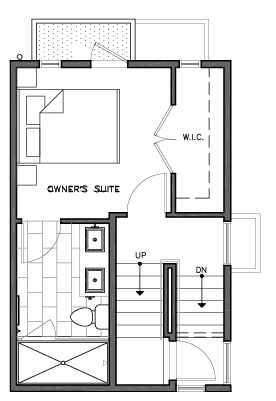 Third Floor Plan of 109D 22nd Ave E at the Thalia Townhomes
