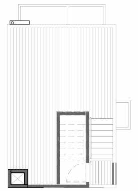 Roof Deck Floor Plan of 109D 22nd Ave E at the Thalia Townhomes
