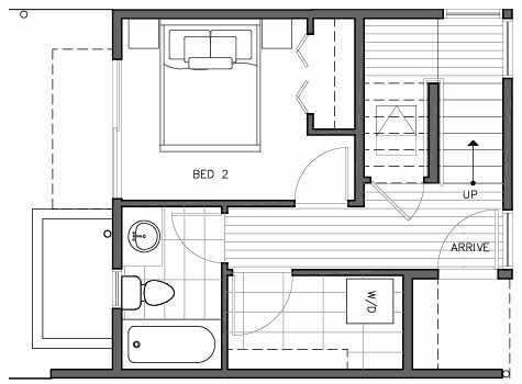 First Floor Plan of 109E 22nd Ave E at the Thalia Townhomes