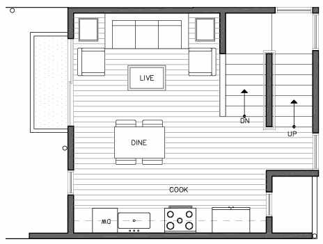 Second Floor Plan of 109E 22nd Ave E at the Thalia Townhomes