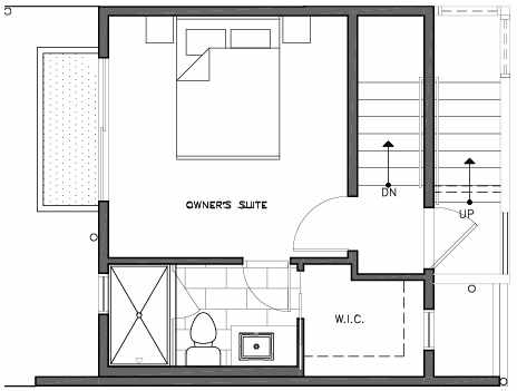 Third Floor Plan of 109E 22nd Ave E at the Thalia Townhomes