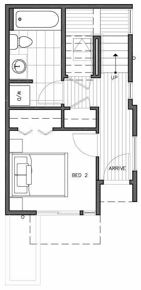 First Floor Plan of 109F 22nd Ave E at the Thalia Townhomes