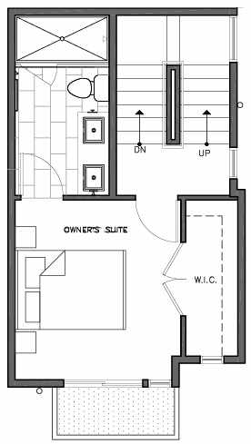 Third Floor Plan of 109F 22nd Ave E at the Thalia Townhomes
