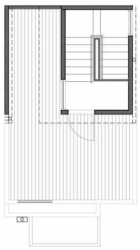 Roof Deck Floor Plan of 109F 22nd Ave E at the Thalia Townhomes