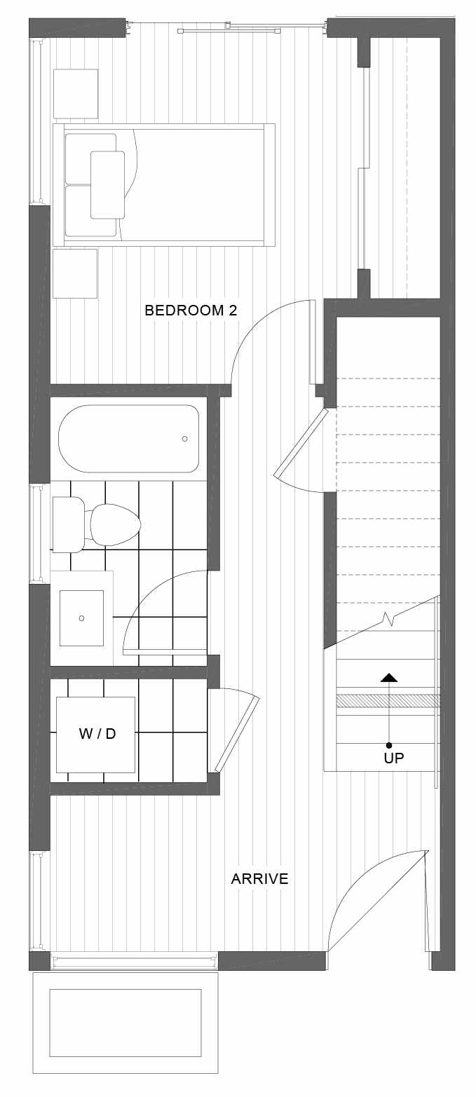 First Floor Plan of 1101 14th Ave in the Corazon Townhomes