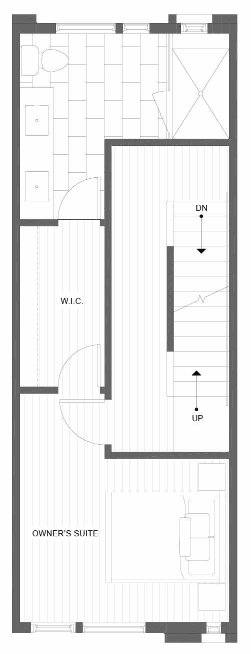 Third Floor Plan of 1101C 14th Ave in the Corazon Townhomes