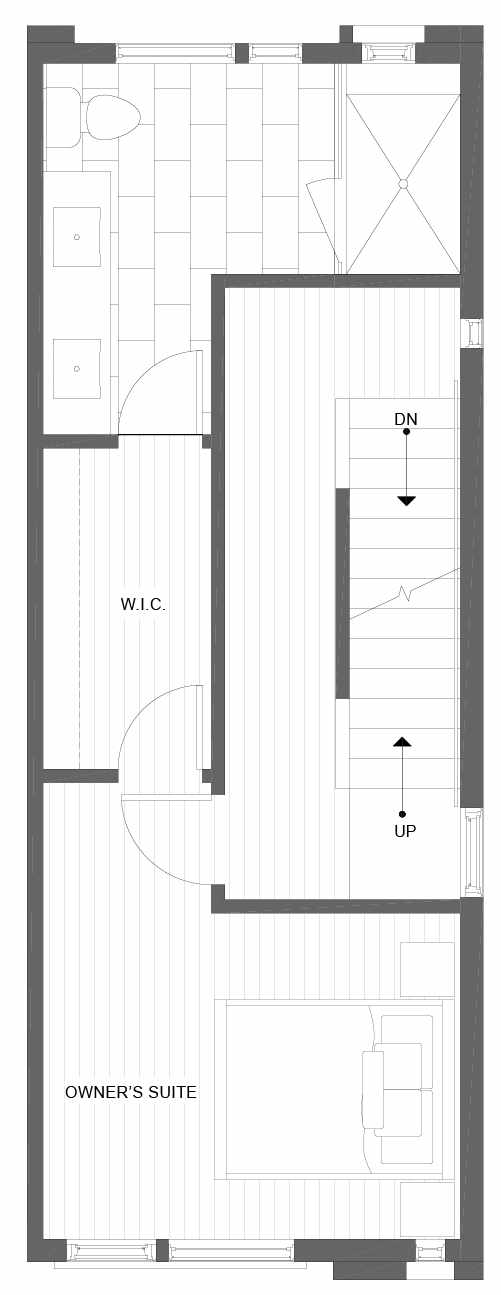 Third Floor Plan of 1101D 14th Ave in the Corazon Townhomes