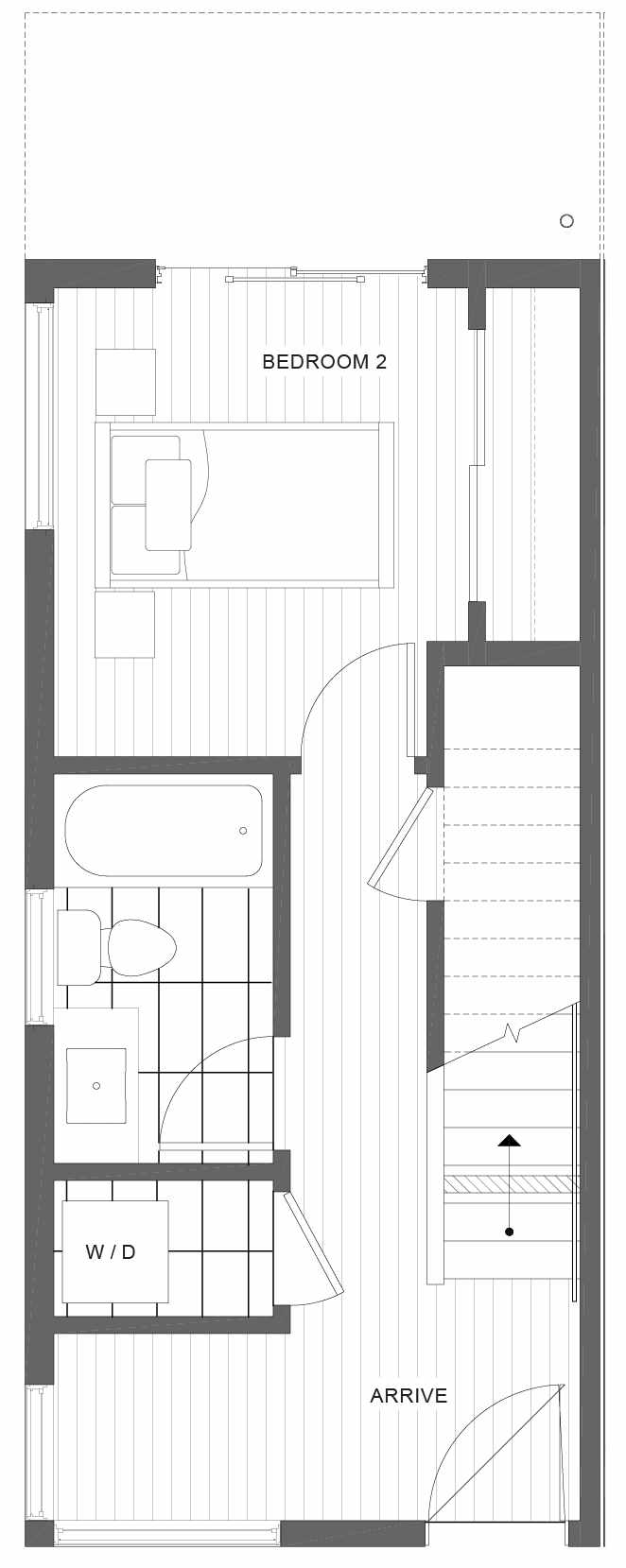 First Floor Plan of 1105A 14th Ave in the Corazon Central Townhomes