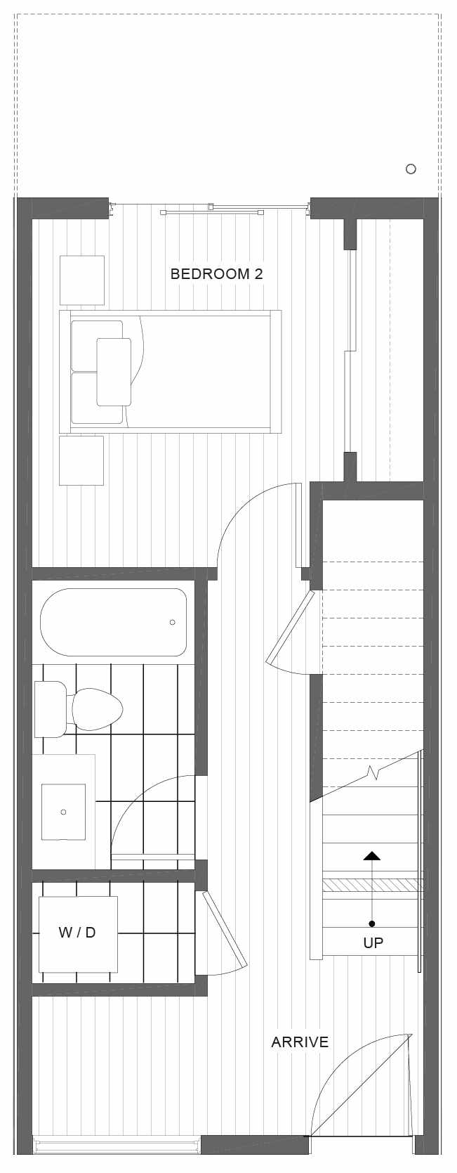 First Floor Plan of 1105D 14th Ave in the Corazon Central Townhomes