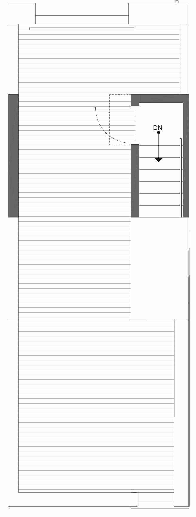 Roof Deck Floor Plan of 1105D 14th Ave in the Corazon Central Townhomes