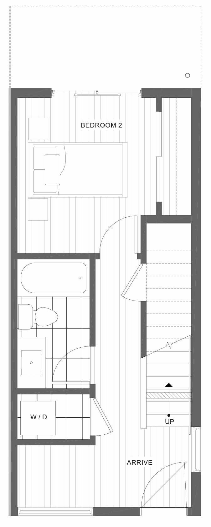 First Floor Plan of 1105F 14th Ave in the Corazon Central Townhomes