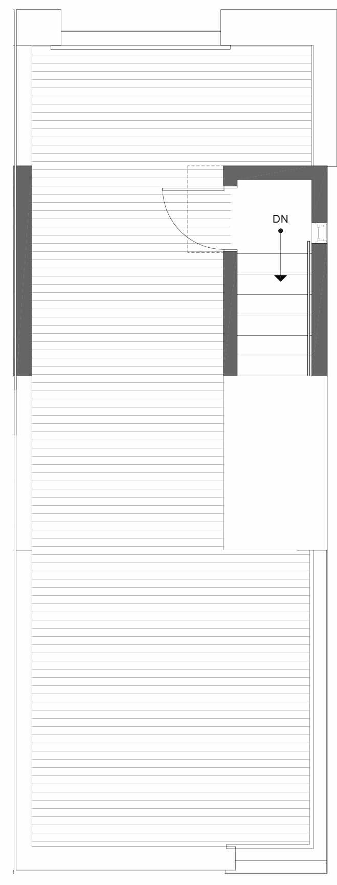 Roof Deck Floor Plan of 1105F 14th Ave in the Corazon Central Townhomes