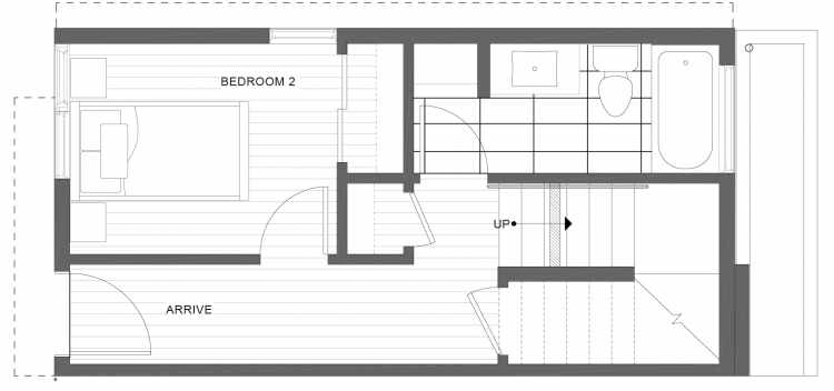 First Floor Plan of 1113A 14th Ave in the Corazon Townhomes