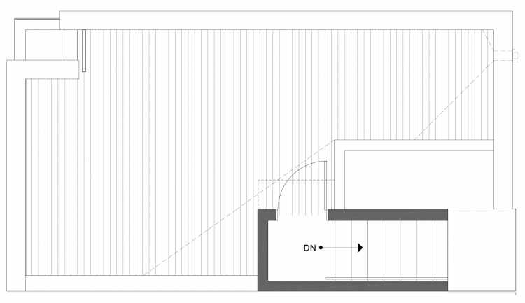 Roof Deck Floor Plan of 1113A 14th Ave in the Corazon Townhomes
