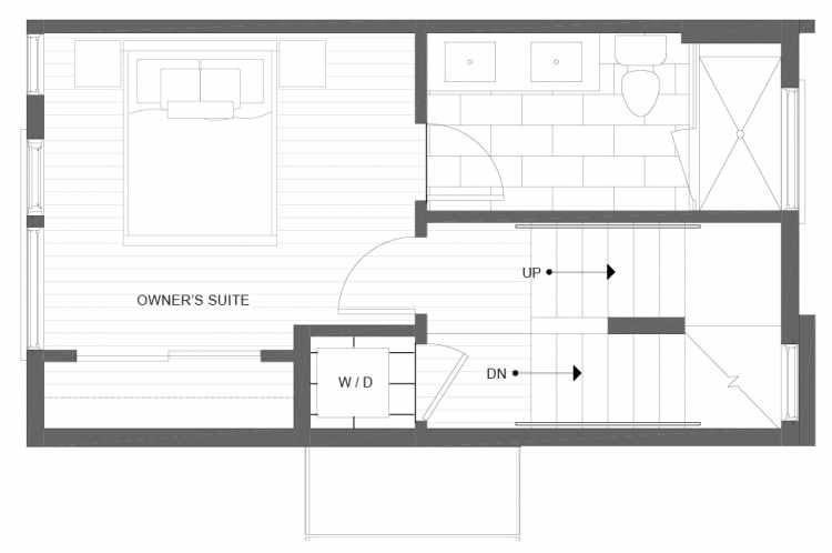 Third Floor Plan of 1113B 14th Ave in the Corazon Townhomes