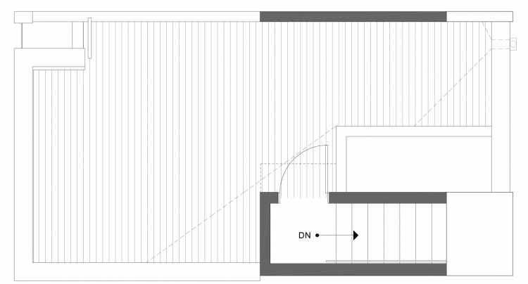 Roof Deck Floor Plan of 1113B 14th Ave in the Corazon Townhomes