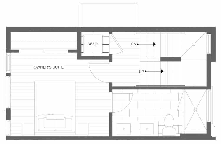 Third Floor Plan of 1113C 14th Ave in the Corazon Townhomes