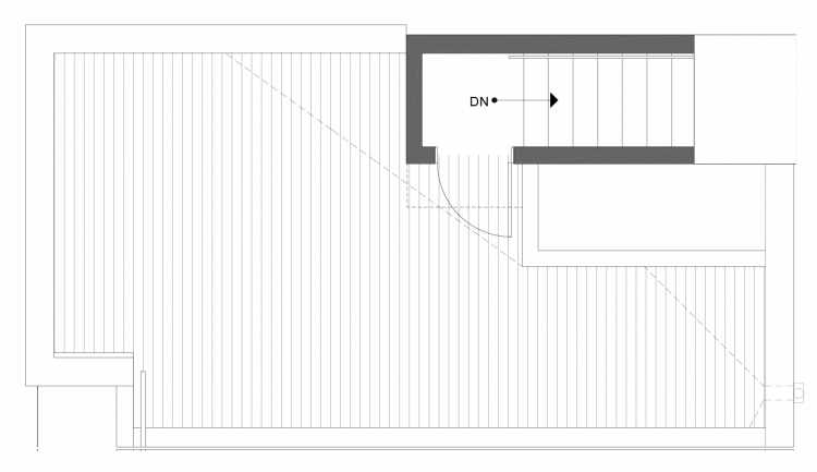 Roof Deck Floor Plan of 1113C 14th Ave in the Corazon Townhomes