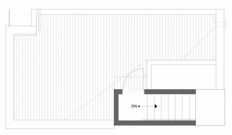 Roof Deck Floor Plan of 1113F 14th Ave in the Corazon Townhomes