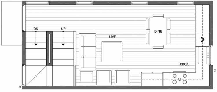 Second Floor Plan of 1115 E Howell St of the Wyn Townhomes