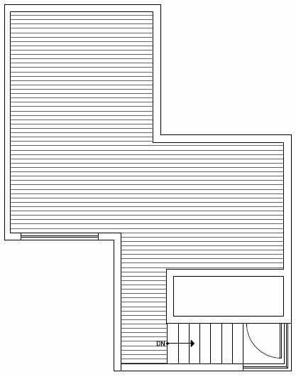Roof Deck Floor Plan of 1117 E Howell St of the Wyn Townhomes
