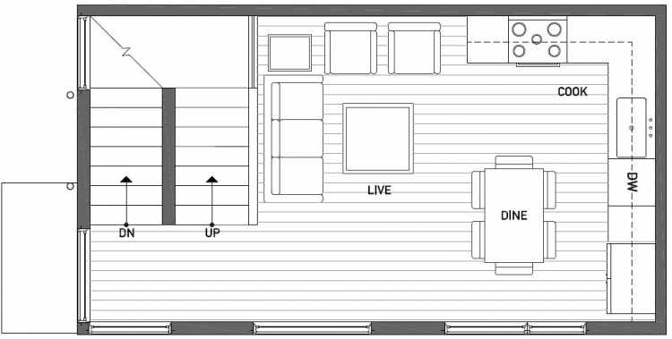 Second Floor Plan of 1119 E Howell St of the Wyn Townhomes