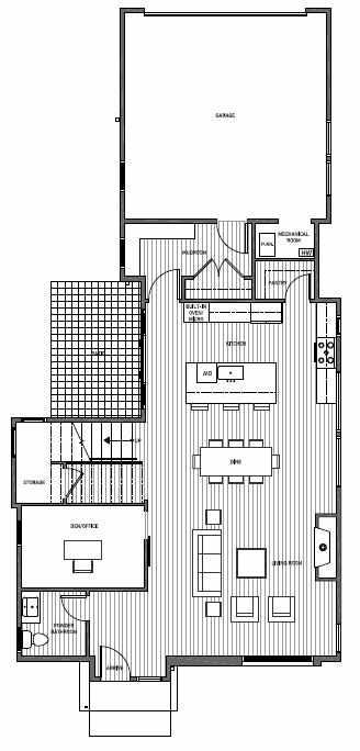 First Floor Plan of 11221 132nd Ave NE, Sheffield Park, in Kirkland, WA