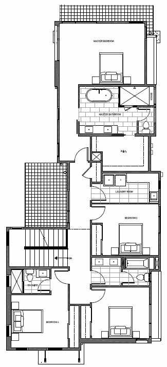 Second Floor Plan of 11221 132nd Ave NE, Sheffield Park, in Kirkland, WA